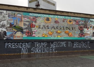 Trump and Belfast Graffiti
