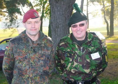 Belfast Lad tour guide with German Army on exercise